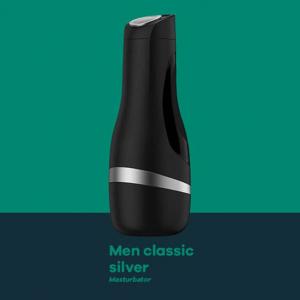 satisfyer mens classic silver masturbator stroker