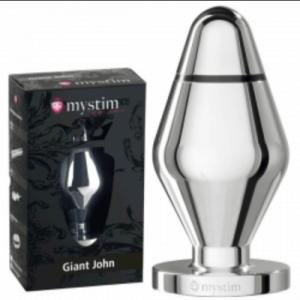 mystim giant john, aluminium anal toys, steel butt plugs